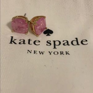 NEVER WORN Pink stone Kate Spade Earrings